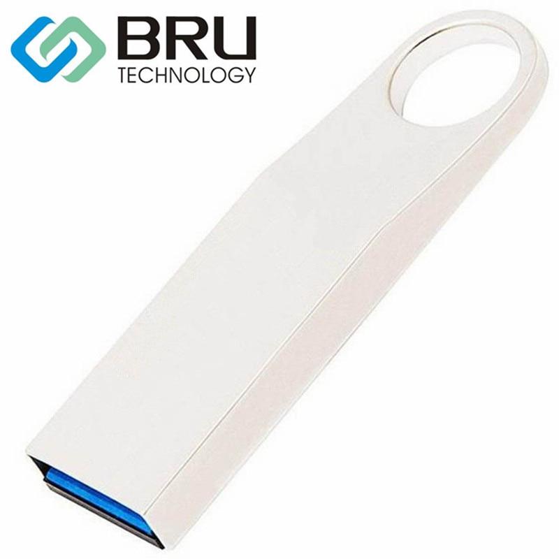 BRU USB3.0 USB Flash Drives 8GB16GB32GB64GB High Speed Metal Pen Drive Memory Real OEM DIY Gift OEM Laser Engraved Print Logo