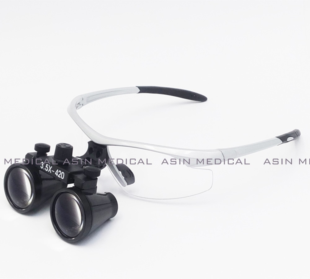 ФОТО 2016  3.5X times enlarger dental nose operation loupe led surgical doctor operating magnifier