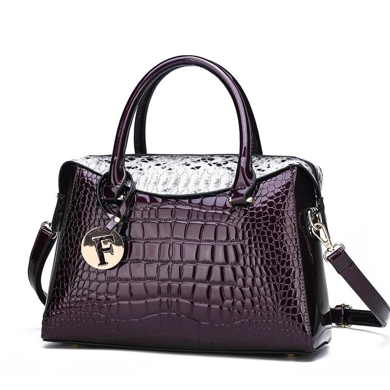Bolso de mano para mujer, Bolso de piel de serpiente, bolso de mano de lujo de estilo europeo y americano, bolsos de diseñador, bolso de compras 2019 nuevo