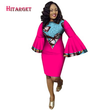 Hitarget 2019 Fashion african style dresses for women clothing robe bazin riche maxi Speaker sleeves dress WY2113