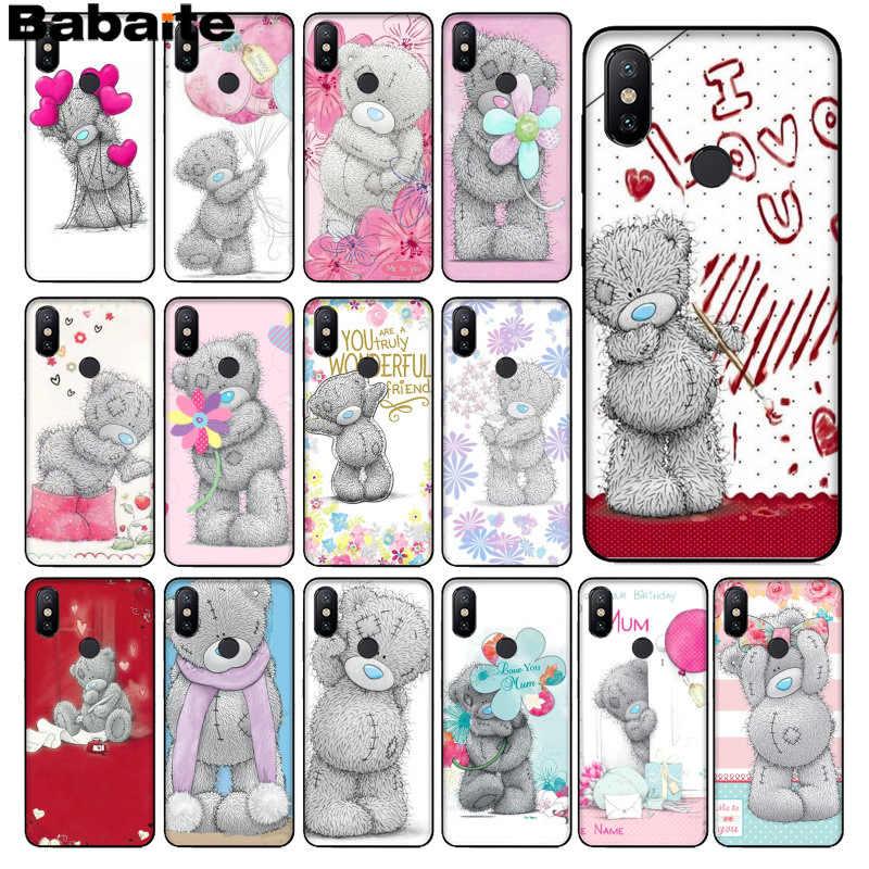 Babaite تاتي تيدي مي لك الدب جراب هاتف جراب هاتف شاومي mi 6 8 se A1 A2 Lite mi 5 mi 8Lite نوت 4 5 mi x2 2S Max2 3