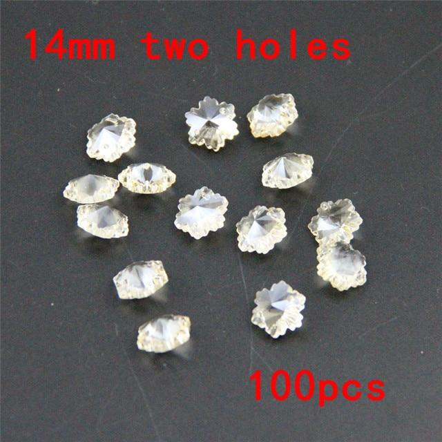 Wholesale glass snowflake beads 100pcs 14mm cogonc party suppies wholesale glass snowflake beads 100pcs 14mm cogonc party suppies crystal chandelier prism for birthday wedding decoration aloadofball Gallery