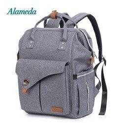Alameda Мода мумия Материнство сумка мульти-функция пеленки сумка рюкзак подгузник Детская сумка с коляской ремни для ухода за ребенком