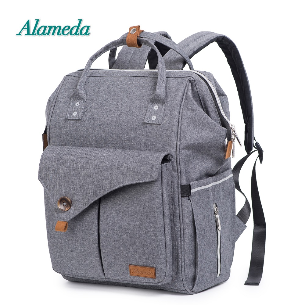 цена Alameda Fashion Mummy Maternity Bag Multi-function Diaper Bag Backpack Nappy Baby Bag with Stroller Straps for Baby Care