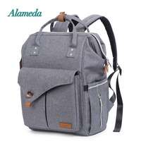 Alameda Fashion Mummy Maternity Bag Multi function Diaper Bag Backpack Nappy Baby Bag with Stroller Straps for Baby Care