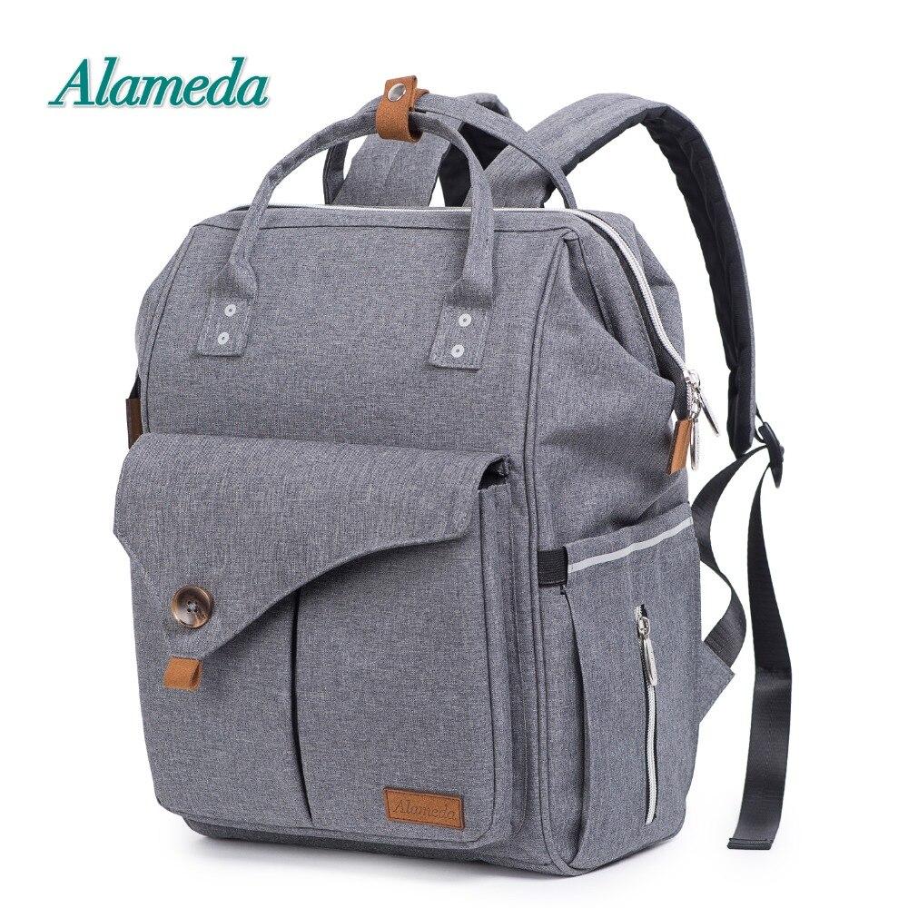 Alameda mode momie sac de maternité multi-fonction sac à couches sac à dos Nappy bébé sac avec des sangles de poussette pour les soins de bébé