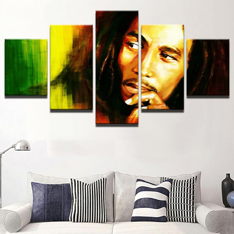 5 Teile/satz Gerahmte HD Gedruckt Bob Marley Sänger Wandkunst Bilder ...