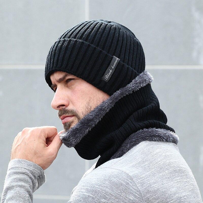 Invierno gorros bufanda de los hombres de tapas sombrero máscara Gorras  sombrero caliente holgado sombreros para hombres de lana de las mujeres de  gruesa de ... 3839827c7b4