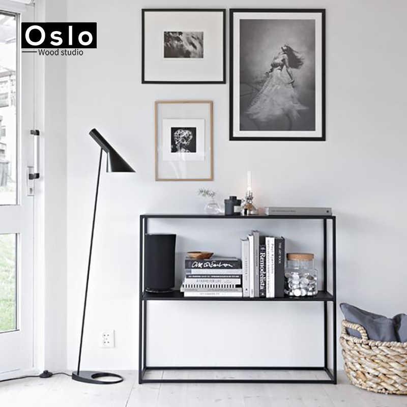 Пост-современный дизайн Arne Jacobsen AJ торшер черный металлический стенд свет для гостиной спальни E 27 Светодиодный светильник для спальни Декор