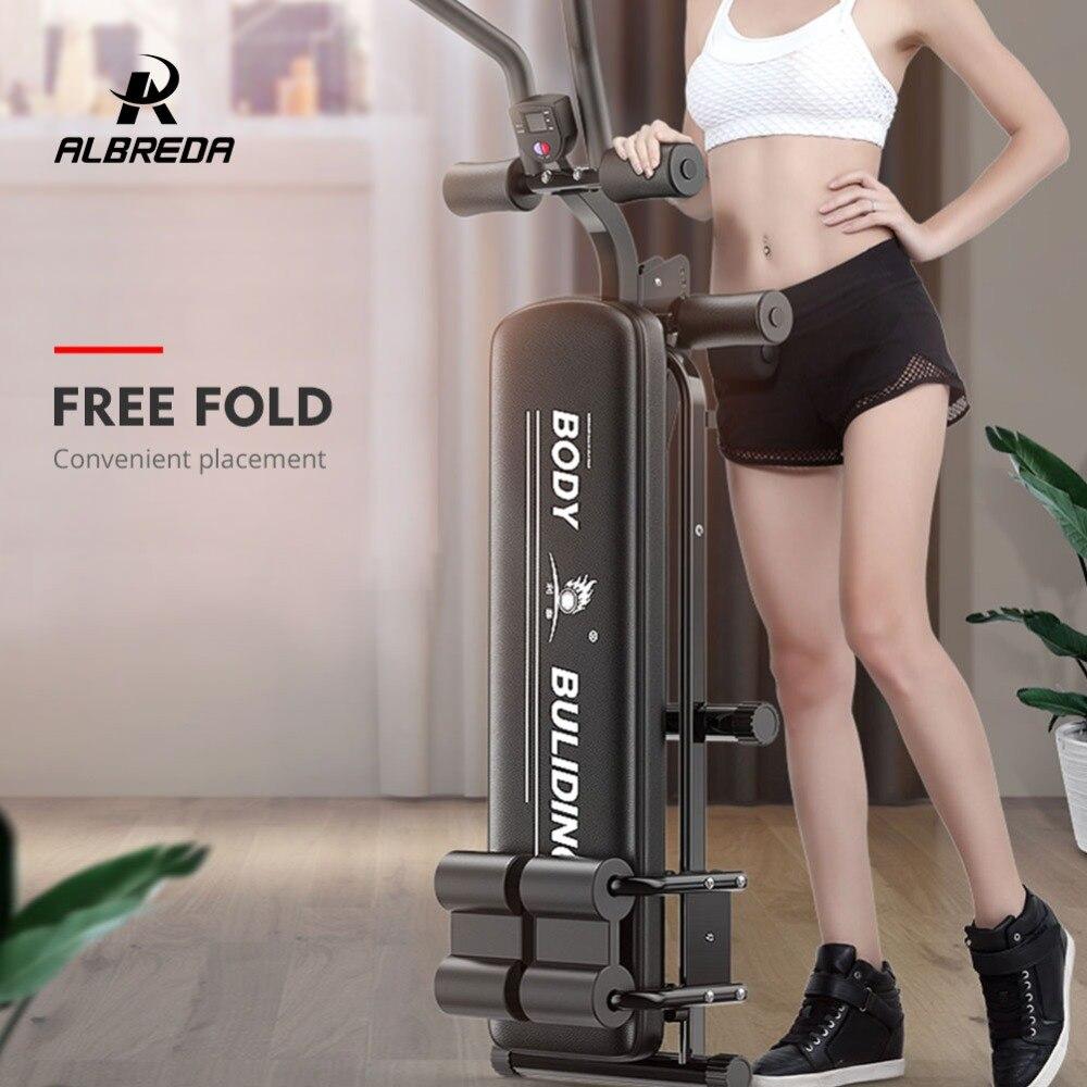 ALBREDA Machines de Fitness multifonctions pour la maison s'asseoir banc Abdominal planche de fitness équipements d'exercice abdominaux entraînement de gymnastique - 3