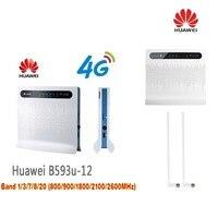 Huawei社B593u-12ロック解除4グラムlte cpe産業wifiルーター(tロゴ)プラス2ピースb593アンテナ