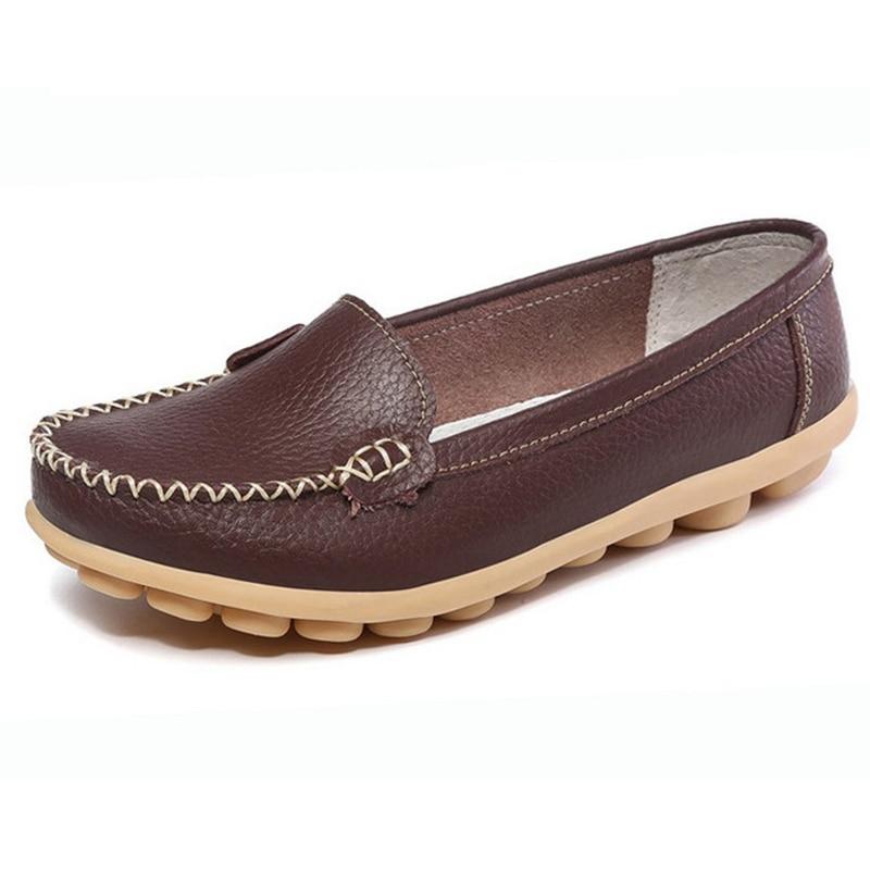 Más tamaño Zapatos para Caminar Las Mujeres Zapatos Mocasines de Verano Madre mo