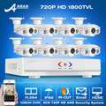 Las más! 1080N 8CH HDMI DVR Kit CCTV 1280*720 P HD 1800TVL IR Impermeable Al Aire Libre de Cámaras de Seguridad de Video Vigilancia sistema