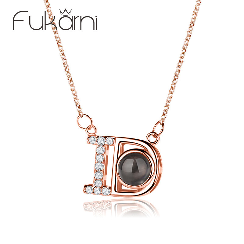 Fake One Penalty Ten 925 Sterling Silver Chain Crystal Propose Marriage Necklaces Jewelry Pendant Necklace