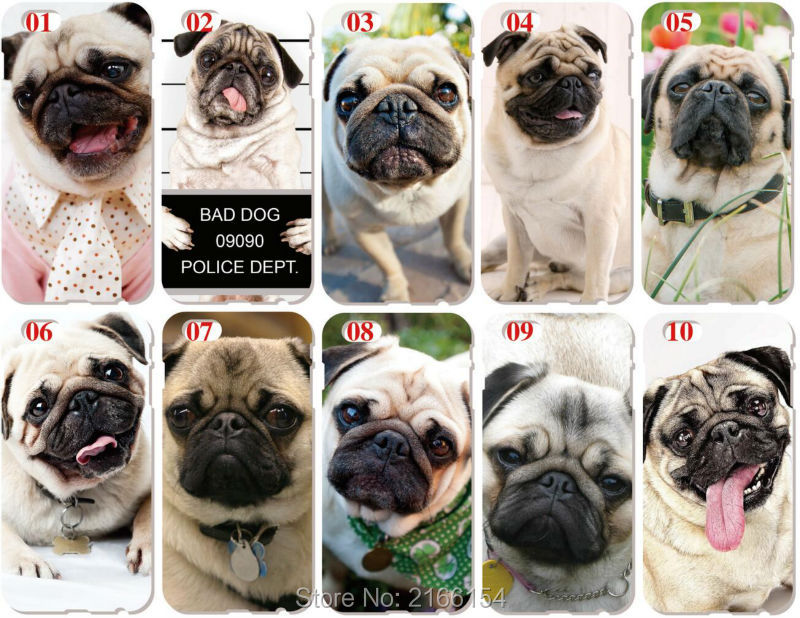 Pug Puppy Dog Shell Cover For iphone 10 X 4 4S 5 5S SE 5C 6 6S 7 8 Plus For iPod Touch 5 6 Phone Case Coque Fundas Bumper Capa