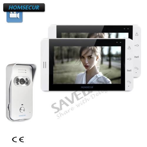 HOMSECUR 7 Wired Video Door Entry Security Intercom with White Monitor+Russian Logistics