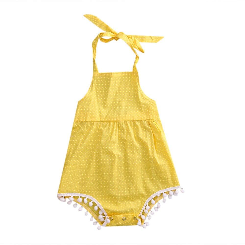 New Cute Summer Jumpsuit Newborn Infant Baby Girls Polka Dot Romper Kids Girls Sleeveless Jumper Jumpsuit Girls Outfits Sunsuit