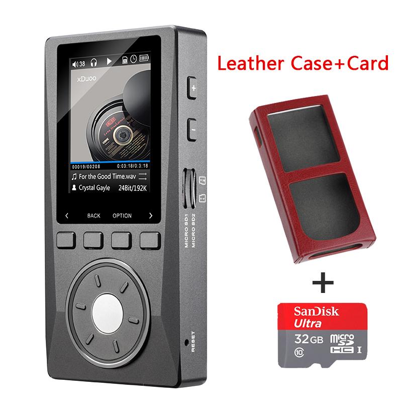 Prix pour 2016 Date XDUOO X10 Portable Haute Résolution Sans Perte DSD Musique Lecteur DAP en Charge Optique Sortie Lecteur MP3 (32G TF Carte + Cas)