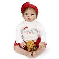1 шт. 22 дюйм(ов) Кукла реборн для продажи мягкой Игрушечные лошадки силикона возрождается младенцев Обувь для девочек играть дома Игрушечные