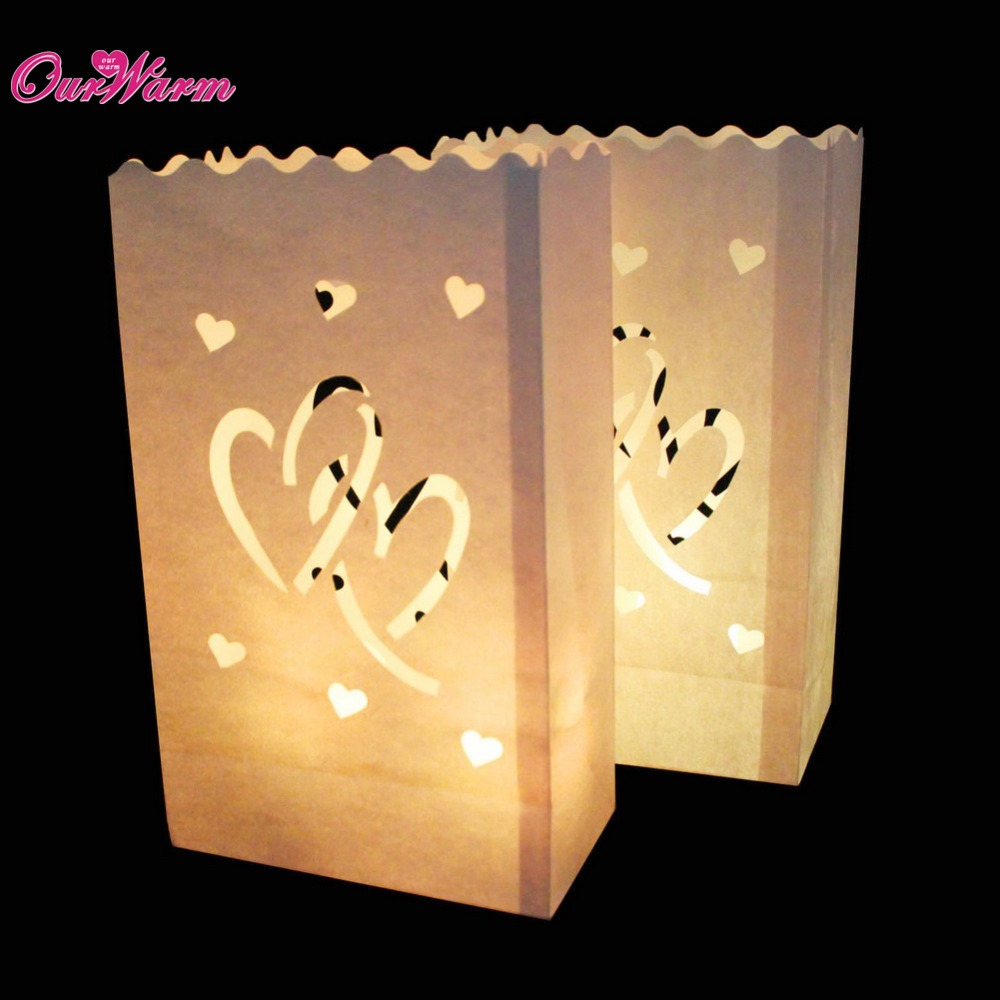 10Pcs Sunshine Tea light Holder Luminaria Paper Lantern Candle Bag For Christmas Party Wedding Decoration Glow in Dark Party(China (Mainland))