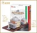 Brinquedo educativo 1 pc criativo itália panteão templo 3D DIY papel puzzle kits famoso modelo crianças brinquedo de presente