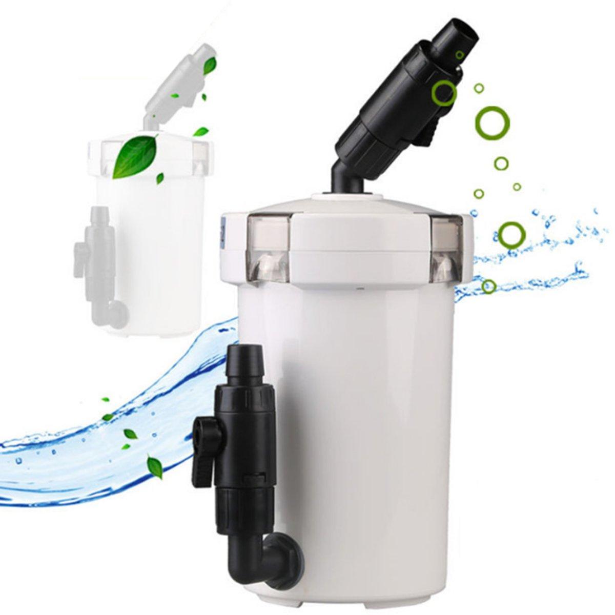 Mini Aquarium External Canister Filter Cotton Sponge Water Pump 106GPH Aquarium Fish Tank Aquatic Filter Accessories HW 602B