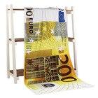 200 Euro Money Bath Towel Drying Washcloth Swimwear Shower 70*140