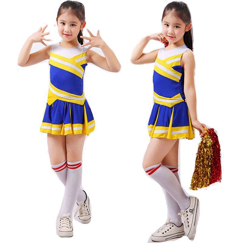c70d16097 Estudiante competición animadoras chica uniforme escolar Cheer uniformes  Kids Performance traje conjuntos chicas clase traje Rooter en Uniformes  escolares ...