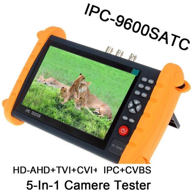 Free shipping!IPC9600SATC 7'' Touch Screen Onvif IP HD-AHD/TVI/CVI Analog CCTV Camera Tester