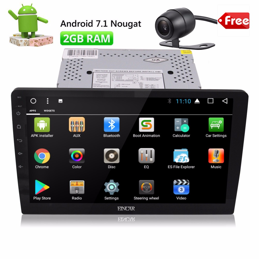 EinCar 10.1 Android 7 Car Autoradio Double 2 Din Stereo In Dash Head Unit Octa Core GPS Sat Nav Support 2GB RAM 32GB ROM WiFi