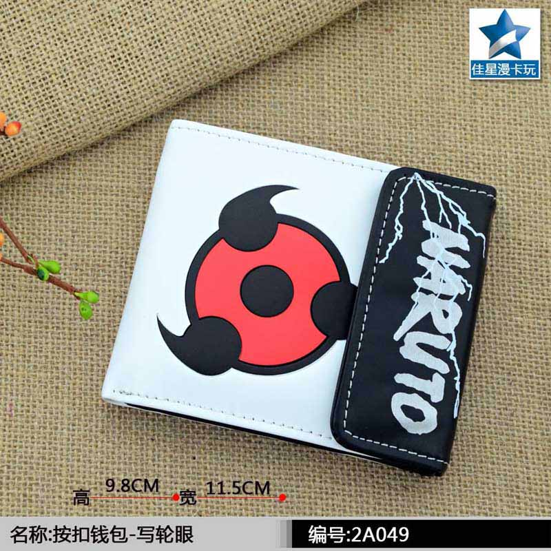 Short Wallet Sharingan Multilayer Naruto PU with Button-Of-Anime Colorful