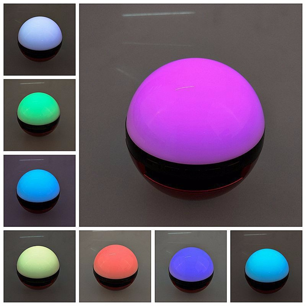 Color change online - Pokemons Ball Wireless Bluetooth Speaker Led Color Change Stereo Audio Speaker Calls Handsfree Support Tf Card