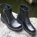 """Europa e América moda botas, Cabeça camada de couro puro handmade ankle meio botas curtas, """"Sen fêmea"""" das mulheres casuais Martin Boo"""