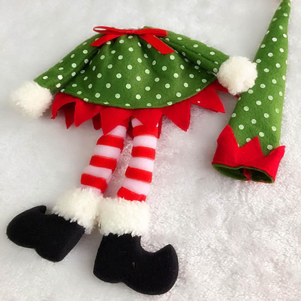Christmas Elf Wine Bottle Cover Holder Christmas Gift