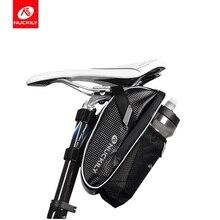 NUCKILY  Bicycle Saddle Bag With Water Bottle Pocket Waterproof Rainproof MTB Cycling Rear Seat Storage Road Bike PL02