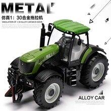 1:30 High Simulation Large Truck Farm Tractor Bulldozer Model Toy Cars Alloy Engineering Metal Boys Toys Car