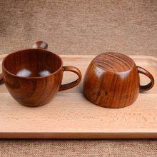 Деревянная чашка ручной работы горячая 260 мл/88 унций натуральный