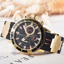 Relogio Dourado Masculino мужские часы лучший бренд класса люкс модные кварцевые часы мужской спортивный военный наручные часы Прямая доставка