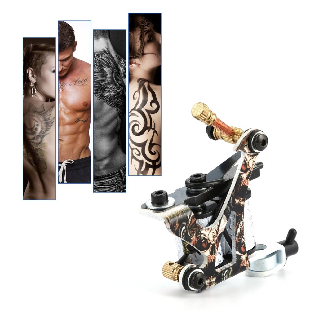 Rotary Tattoo Machine Shader & Liner Assorted Tatoo Motor Gun Kits Supply Needle Grips Tips Tatto Accessories For Artists entity assorted white tips 500 шт