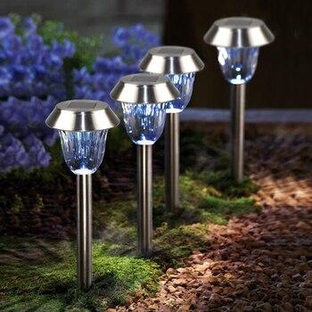 Solar Lamp Outdoor Waterproof Stainless Steel Lawn Light Landscape Lights LED Solar Lights for Garden Decoration Yard Lamp