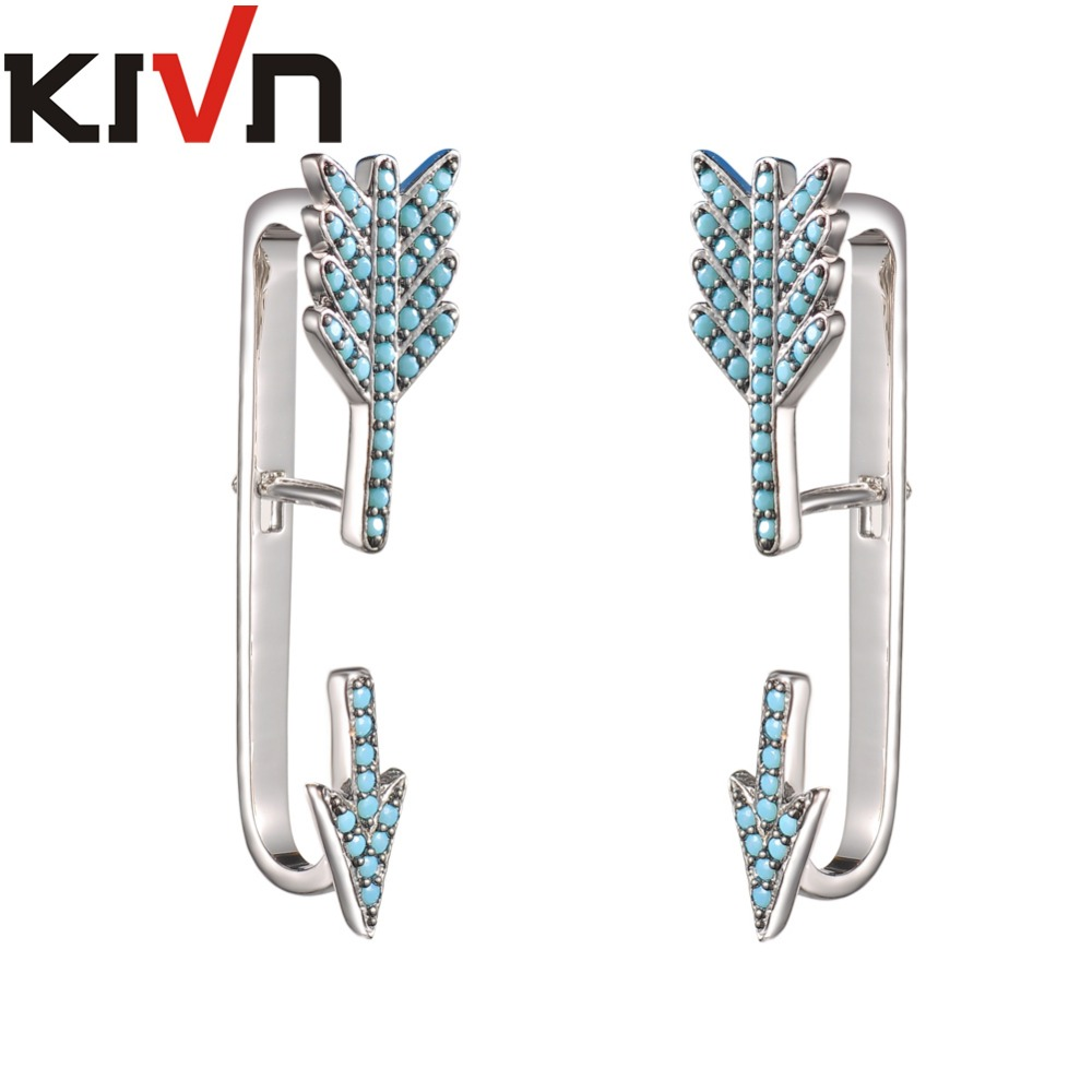 KIVN Fashion Jewelry Pave CZ Cubic Zirconia Arrow Ear Cuff Ear - Bisutería - foto 3