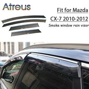 Image 1 - MCrea ABS 4pcs Car Styling Smoke Window Sun Rain Visor Deflectors Guard For Mazda CX 7 2010 2011 2012 Accessories