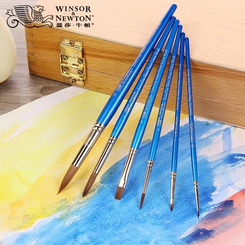 guache winsor newton mink cabelo escovas de pintura e pinceis aquarela materiais de arte 6