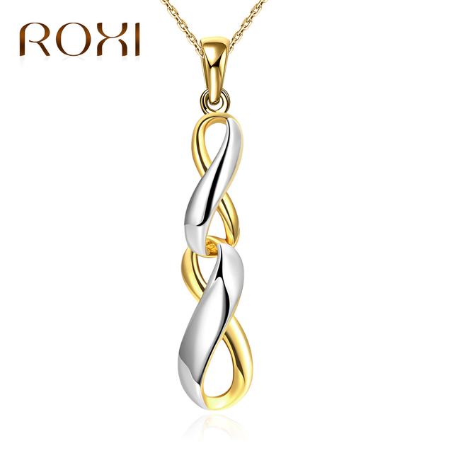 Roxi fashion simple pendant necklace for womenmen punk gold silver roxi fashion simple pendant necklace for womenmen punk gold silver plated necklace hip hop aloadofball Images