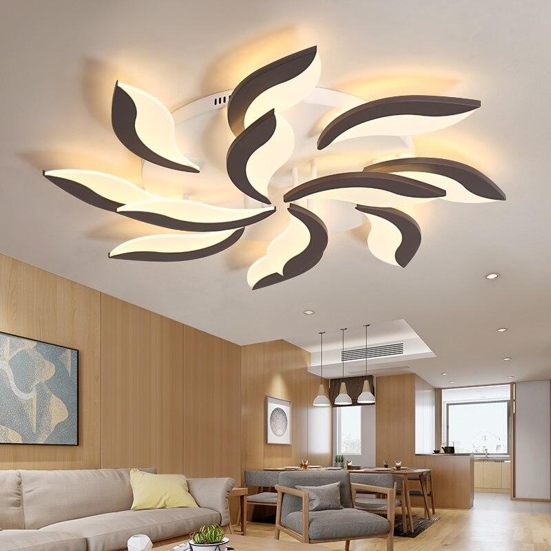 Télécommande lustre De Mode moulin à vent moderne LED lustre décoration de la maison Intérieure Acrylique moderne lustre éclairage