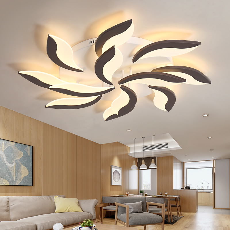 Télécommande lustre De Mode moulin à vent moderne led lustre décoration intérieure de maison Acrylique moderne éclairage de chandelier