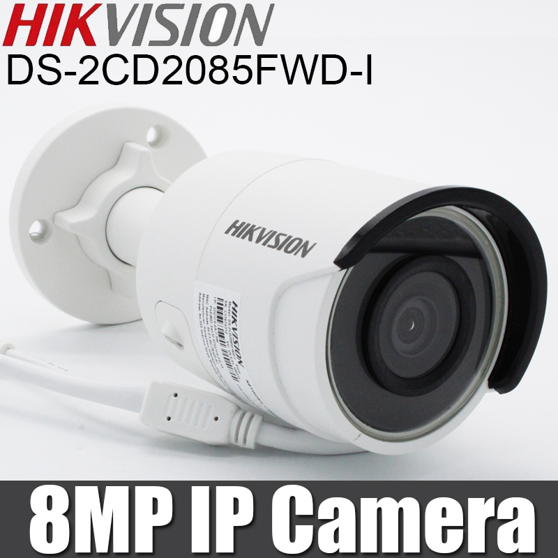 Hikvision DS 2CD2085FWD I IP camera H 265 8MP Bullet Camera SD Card slot With POE