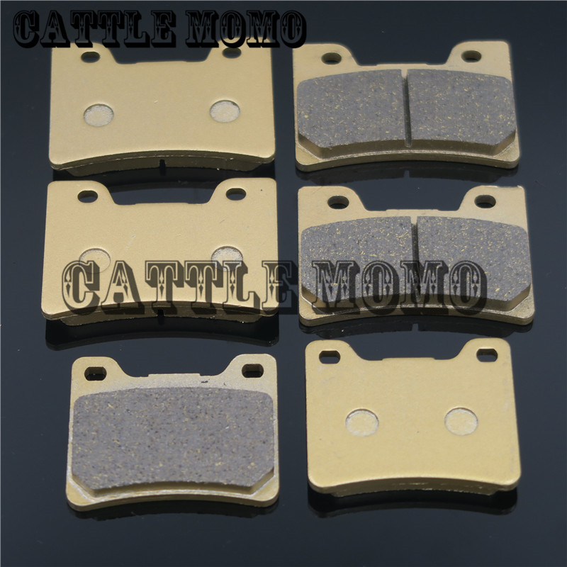 Motorcycle Brake Pads Front & Rear Brake Pads For Yamaha V-MAX 12 1993-2003 FZR 600 90-93 FZR 600 R 94-95 TDM 850 96-2000 2001 motorcycle rear brake pads disc for yamaha tdm900 xvs950 fjr1300a fjr1300 xvs1300 xv1700 v max xv1900a xv1900 midnight star