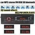 Promoción Bluetooth Manos Libres Estéreo de Música Audio Del Coche Reproductor de MP3 FM de radio Ranura SD USB AUX Audio 1 din tamaño de control remoto