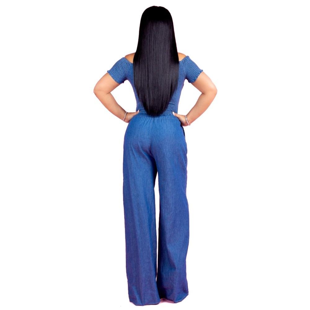 b80351fc613 ... Casual Women Elastic Fold Jumpsuit Ruffles Sleeves Long Wide Pants  Ladies Romper Overalls. size. (14). models display. (4) (5) (6) (7) (9) ...